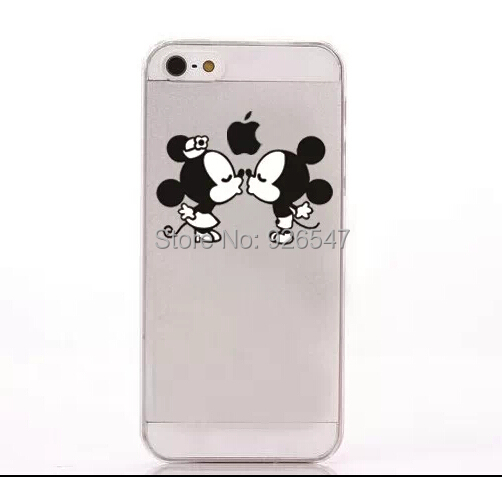 2015 New Arrive Sweet Cute Mickey & Minnie Kiss Hard Back Cover Case For Apple iPhone 4 4S 5 5S 5C 6 6 Plus 1Piece Free Shipping(China (Mainland))