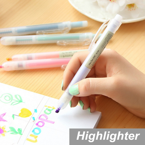 10 pcs/Lot Highlighter pen Candy color Scrub body Marker Luminescent paint Stationery Office material School supplies 6767<br><br>Aliexpress