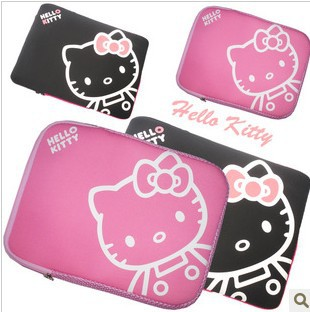 "Hello Kitty laptop sleeve bag tablet pc cover 10"" notebook case briefcase computer bags,SLV008,free shipping(China (Mainland))"