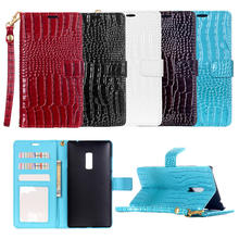 Buy Luxury Wallet Case One Plus Two Flip Cover Pouch Case Crocodile Leather Hand Strap Phone Bag Case OnePlus 2 / One Plus 2 for $4.41 in AliExpress store