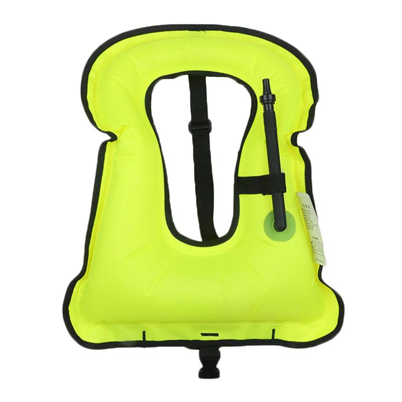 (Yellow)1 pcs High Quality New Mens Snorkeling Gear Swimwear Inflatable Adult Life Jackets Vest Swimwear(China (Mainland))