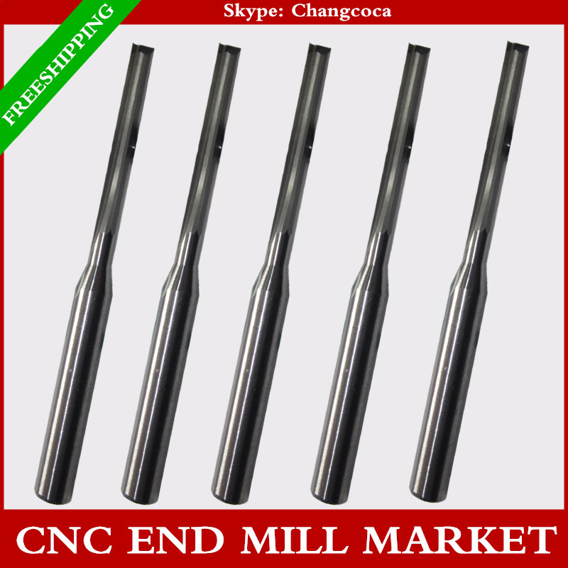 3.175mm*2.0mm*15mm,CNC machine solid carbide end mill,woodworking milling cutter,2 Flutes straight end mill,Foam,EVA board(China (Mainland))