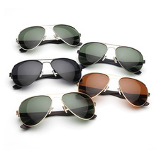Men Pilot Polarized Sunglasses Soft Temples TR Material Drive Steampunk Goggles Sunglasses Mens Brand Designer With Box