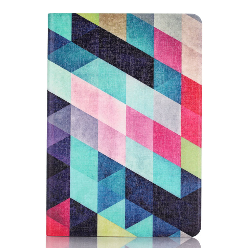 Hot-sale Colored Squares Flip Stand Leather Case Cover Skin Protecor Screen Protection For iPad Mini 1 2 3 Retina 1 pc<br><br>Aliexpress