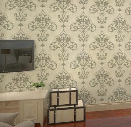 Free Shipping! Steinway non-woven wallpaper fashion flower quality gold living room wallpaper 6354 deep khaki 0.53m * 10m ceilin(China (Mainland))