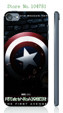 Mobile Phone Case Retail 1pc Captain American Logo Movie Protective White Hard Case Cover For ipod touch 5 5th Free Shipping