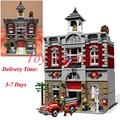 2017 DHL LEPIN 15004 Fire Brigade Station 2313 PCS City Street Building Blocks Bricks Toy Gift