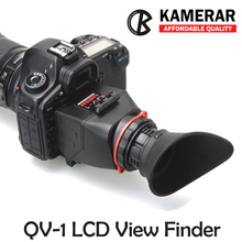 AUTHENTIC KAMERAR QV-1 LCD VIEWFINDER VIEW FINDER FOR CANON 5D MarK III II 6D 7D 60D 70D,f Nikon D800 D800E D610 D600 D7200 D90(China (Mainland))