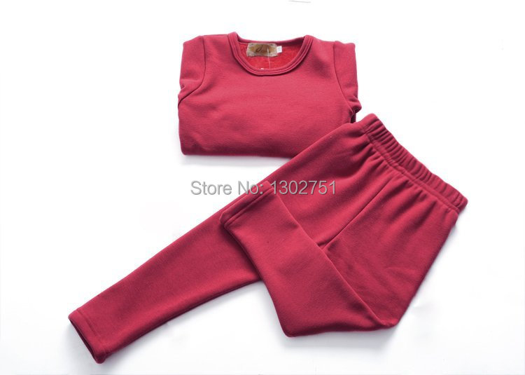 Free shipping 5pcs/lot Boys Girls warm suits children clothing baby kids fleece thermal underwear/thickening velvet baby set(China (Mainland))