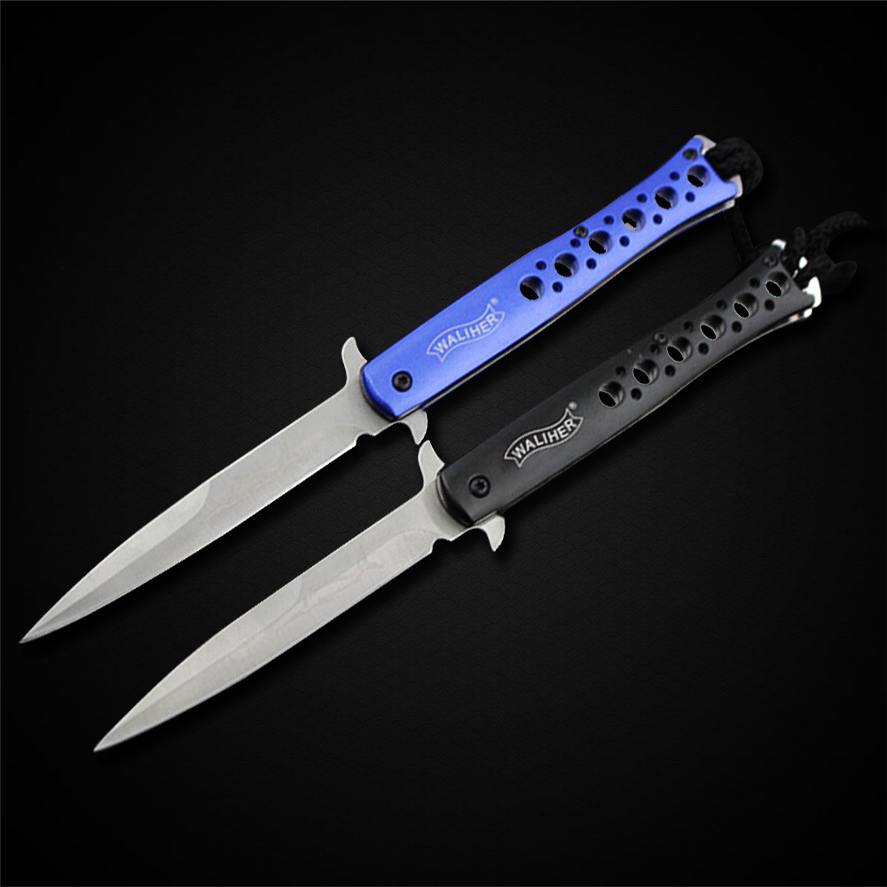 Folding Blade Knife 3Cr13Mov Stainless Steel Blade Aluminium Alloy Handle Knife Camping Tool(China (Mainland))