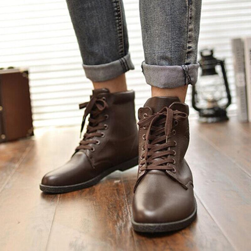 Купить мужские кожаные ботинки в Москве, в интернет