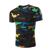 Buy Camouflage Tee Shirt Men 2017 Summer Cool Design Fitness Hip Hop Casual Cotton Slim Camo Army tShirt Outwear T Shirt Men for $7.50 in AliExpress store