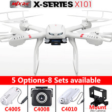 Quadcopter MJX X101 Drones 2.4g 6-axis Rc Helicopter Drone with Gimble can Add C4005 C4010 C4008 FPV Wifi Camera Hd Vs dji Dron