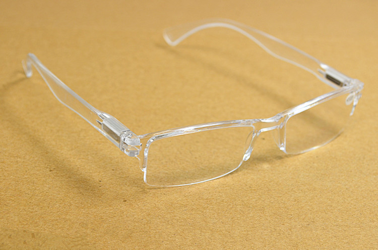 FIVE PAIRS Spring leg strachable new fashion plexi glass transparent reading glasses +1 +1.5 +2 +2.5 +3 +3.5 +4(China (Mainland))