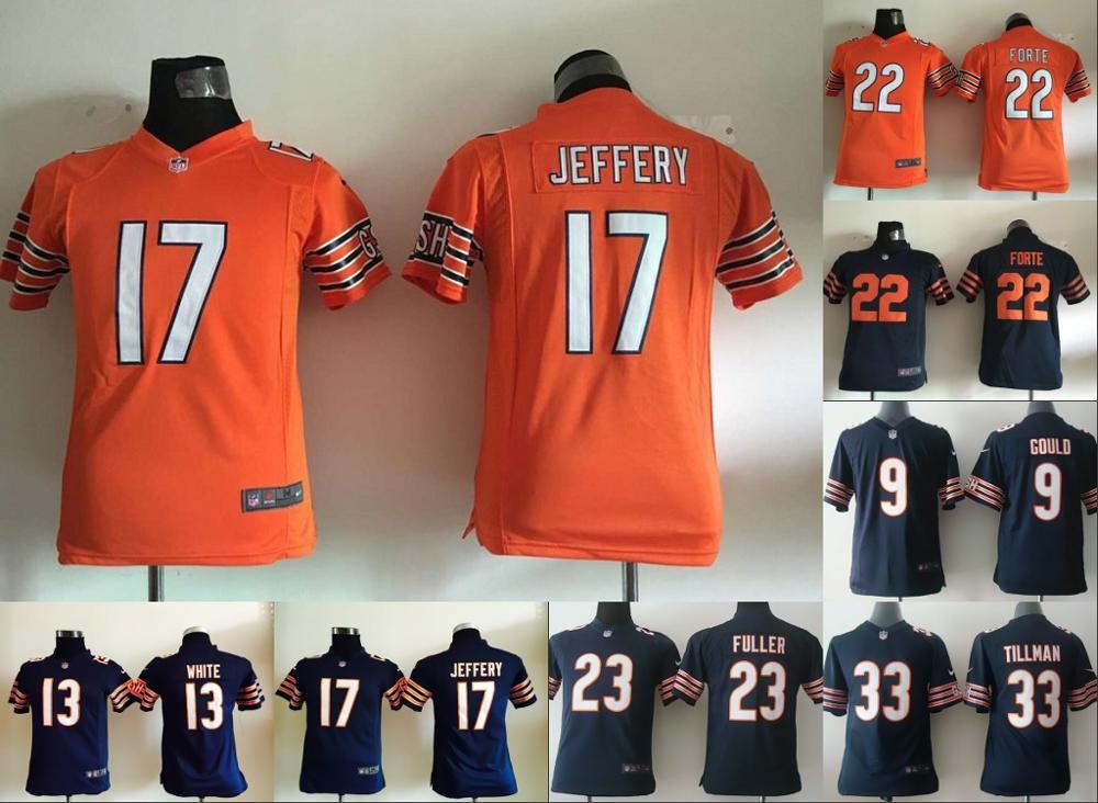 All stitched Youth Chicago Bears Kids children 13 Kevin White 17 Alshon Jeffery 89 Mike Ditka #33 22 Matt Forte(China (Mainland))