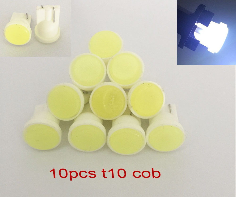 Car styling 10pcs/lot T10 194 168 W5W 6 LED COB Chip Car Door Light Clearance Lights Wholesale Car Side Light Bulbs NO Error(China (Mainland))