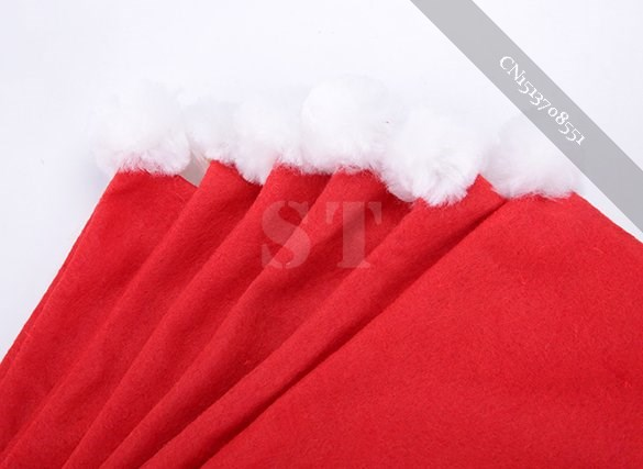 Set of 6 Santa Clause Red Hat Chair Back Covers for Christmas Dinner super(China (Mainland))