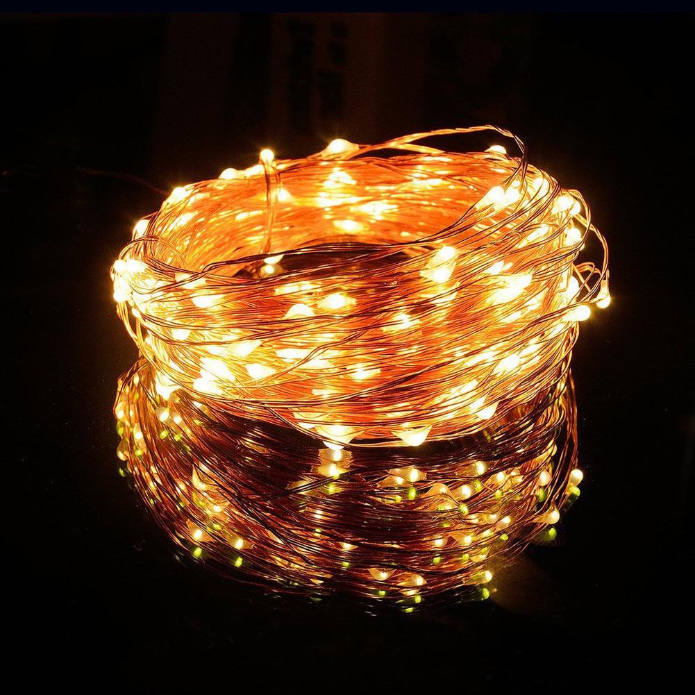 100 LEDs 10M Solar String Lights Fairy Lamp Outdoor Lighting Waterproof For Garden Restaurant Christmas Tree LED Strip Light(China (Mainland))