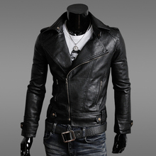 Autumn new men's thin section Korean Slim leather motorcycle jacket male stand-up collar PU leather jacket C75