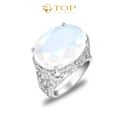 Classic Moonstone vintage aneis femininas brand rings for women engagement wedding jewelry silver bijoux(China (Mainland))