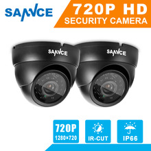Buy SANNCE 2pcs AHD 720P HD 1.0MP high resolution CCTV Security Cameras H.264 Waterproof Indoor/ Outdoor Surveillance Cameras set for $49.49 in AliExpress store