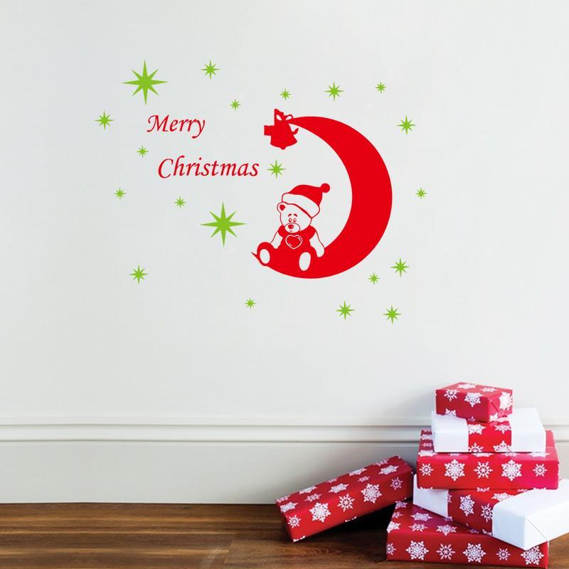 Xmas Wall Decorations Christmas : Aliexpress buy diy merry christmas moon star