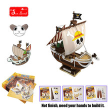 "Corsairs ""GOING MERRY"" Of Anime ""ONE PIECE"" Scale 3D Paper Model Ship Toys for Kid anime luffy Paper Model pirate ship Toys"