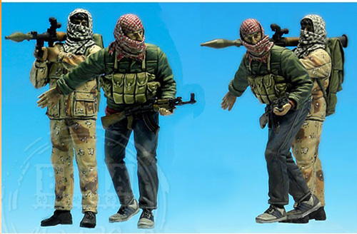 Free Shipping 1/35 Scale resin figure Battlefield Modern Middle East Militants in Palestinian areas(China (Mainland))