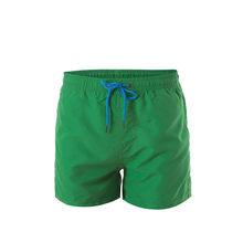 Męskie spodenki do pływania marki stroje kąpielowe kąpielówki szorty plażowe pływanie krótkie spodnie stroje kąpielowe męskie spodenki sportowe do biegania(China)