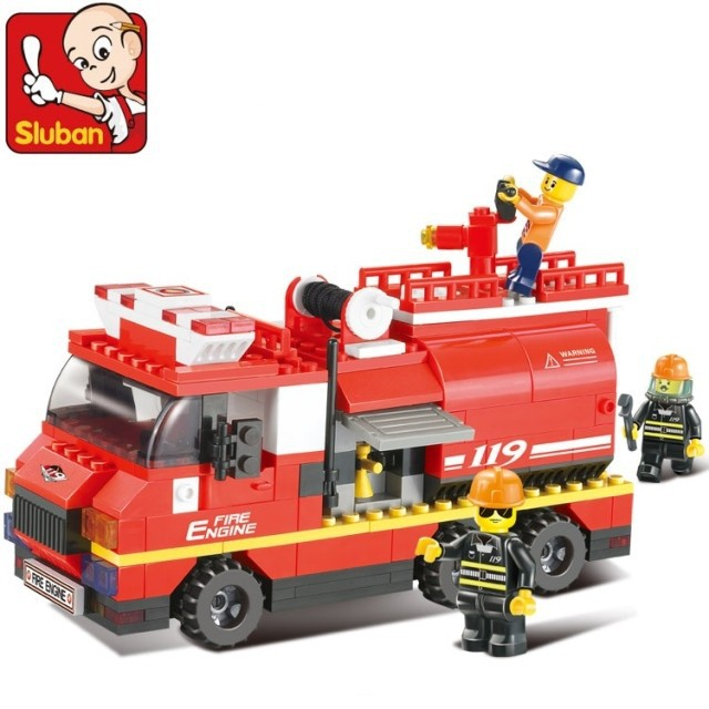 building block Urban Series / large fire fight inserted toys children assembled educational M38-B0220(China (Mainland))