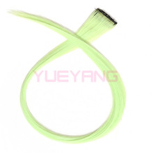 Custom Straight Clip In Synthetic Party Hair Extensions with One Clip(China (Mainland))
