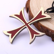 Buy 10pcs/lot Assassins Creed 3 Templar Necklace Alloy Shape Pendant Leather Chain Figure Women Men Fashion Jewelry HC11323 for $15.00 in AliExpress store