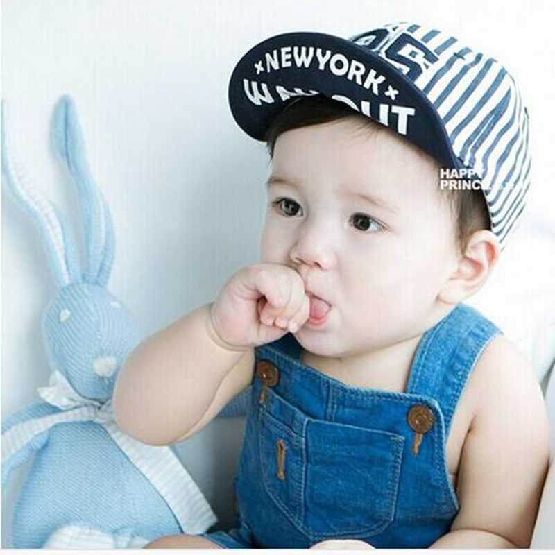 Summer Newborn Baby Hat GirlS BoyS Digital 25 Striped Baseball Cap Infant Cotton Unisex Toddlers Sun(China (Mainland))