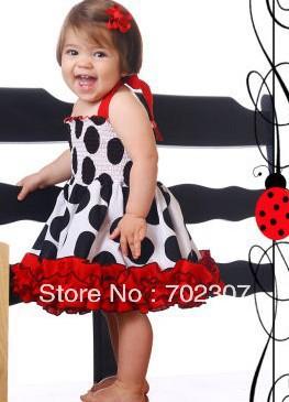 2013 baby girl Polka Dot Dress summer children dress, Children ruffle wear 3258<br><br>Aliexpress