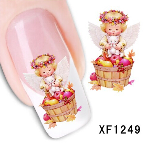 Arrival Water Transfer sticker on nails Art accessories angel design manicure Drop Shipping(China (Mainland))
