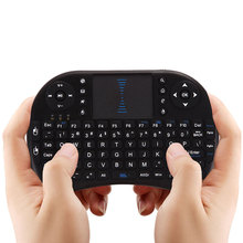 2.4GHz Mini Wireless Keyboard English Air Mouse Keyboard Remote Control Touchpad For Android TV Box Notebook Tablet Pc