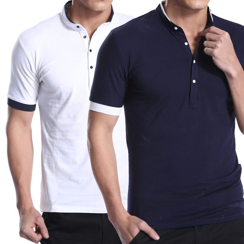 2015 Summer New Fashion Male Slim Fit Short-Sleeve Plus Size 3XL Camisa Polo Masculina Shirt Men - Vic rao's store