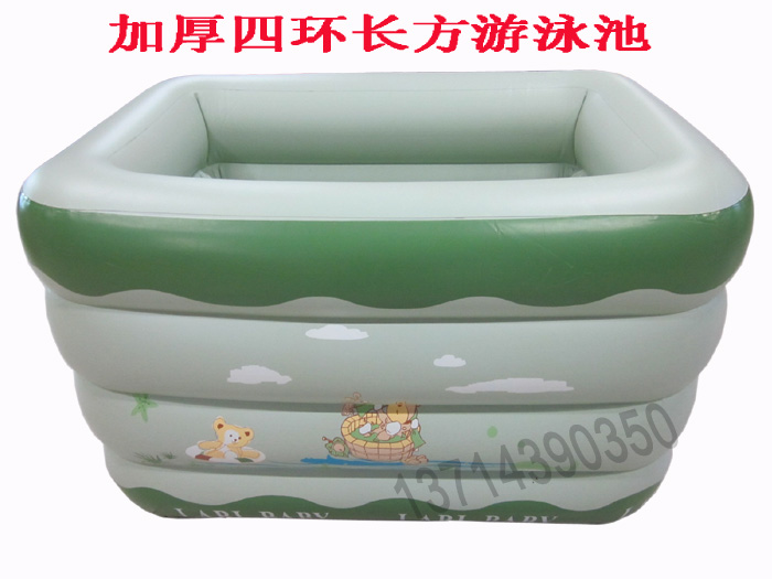 Thick materials imported green square inflatable pool round send electric pump(China (Mainland))
