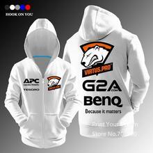 LOL CSGO Gaming Team Virtus.pro zipper women Men casual hoodies sweatshirt fleece jacket E-Sport Clothing Jersey Virtus pro(China (Mainland))