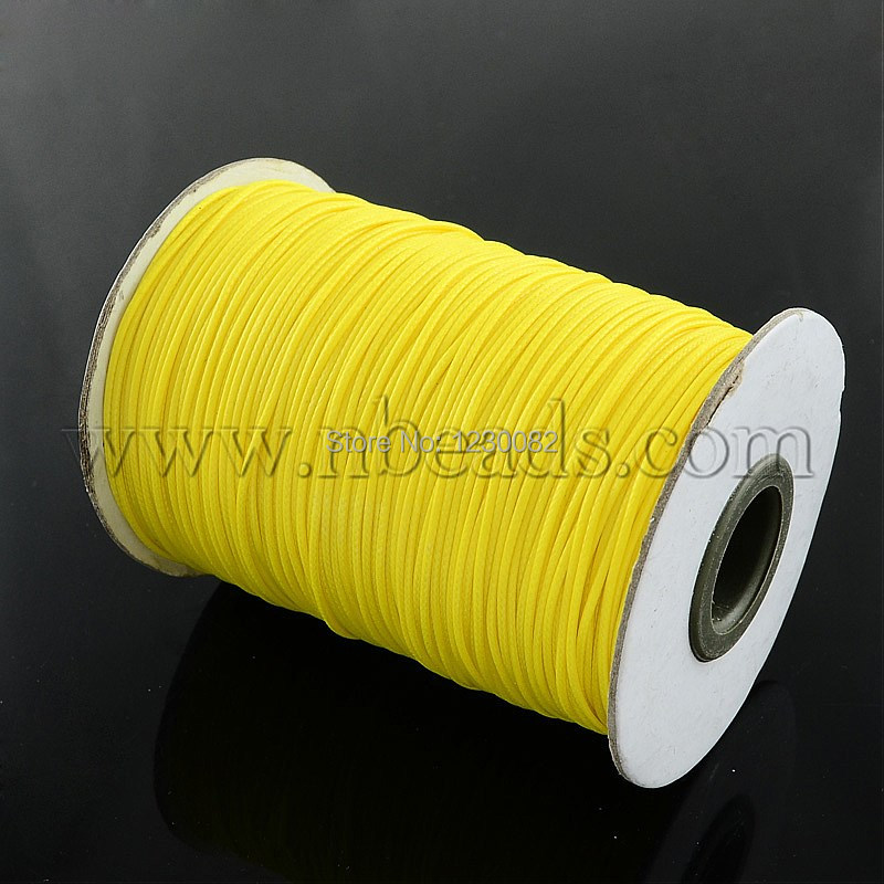 1.0mm Fluorescence Style Yellow Waxed Polyester Cord(China (Mainland))