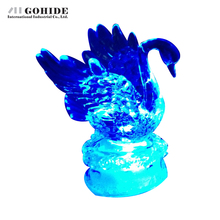 Gohide 1PCS Acrylic Swan Colorful Nightlight Decorator Nightlight Sleep Led Desk Decor Lamp Bulb Nightlight For Children(China (Mainland))