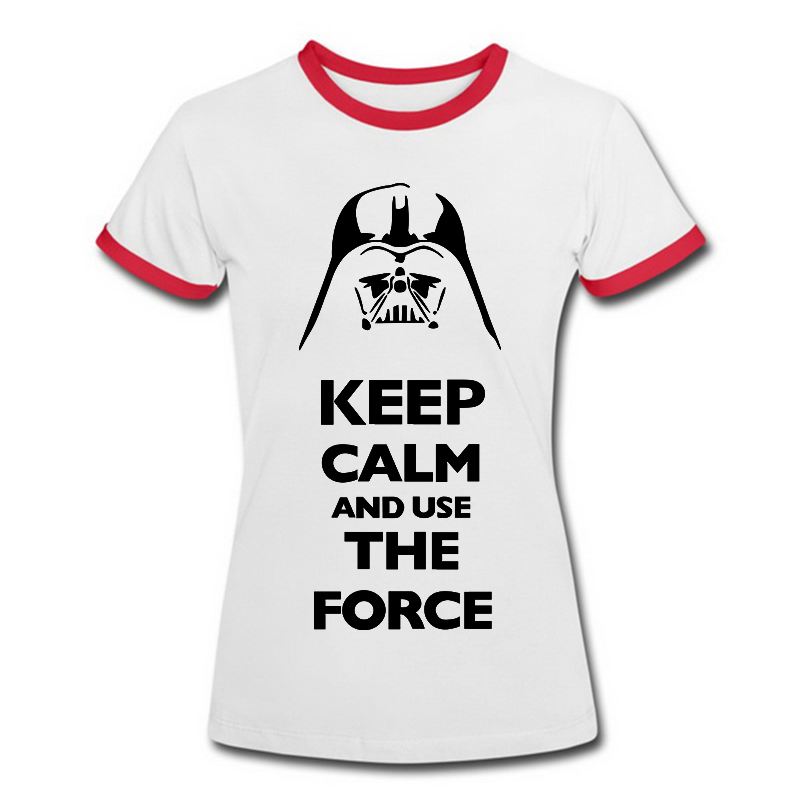 Cheap Summer Women Tops Star Wars T Shirts Death Vader Graphic Tees Girl Ladies Cotton Round Neck Short Sleeve Free Shipping(China (Mainland))