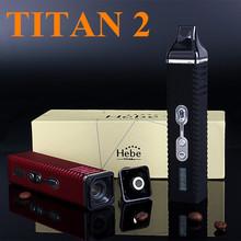 Electronic Cigarette Wax Dry Herb Vaporizer Titan 2 Hebe Box Mod  Kits E Cigarette Twist Herbal Vaporizer Herb Vape X8249