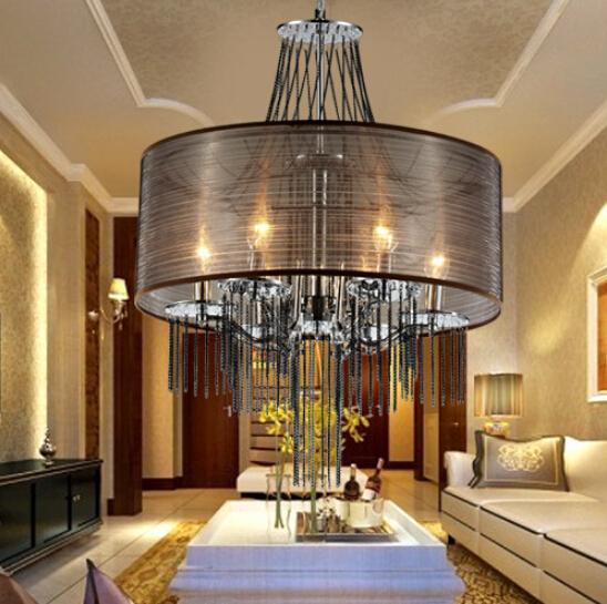 Modern Simple Elegance Fringed Acrylic Chandelier LED Chandelier Living Room Rrestaurant Bedroom Lighting Lamps(China (Mainland))