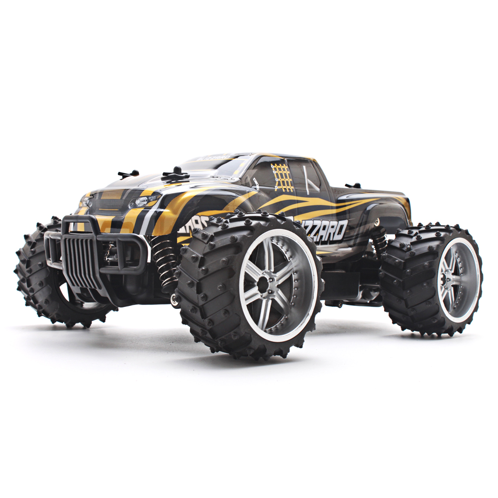 Electric RC Car USB Charger 1:16 Scale Model 4WD Off Road High Speed Remote Control Car (Gold) for Kids Children Gift(China (Mainland))