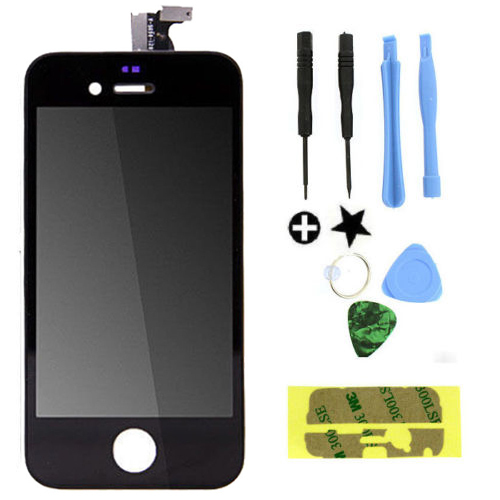 Black/White LCD Touch Screen Lens Display Digitizer Assembly Replacement for iPhone 4 4G GSM/CDMA(China (Mainland))