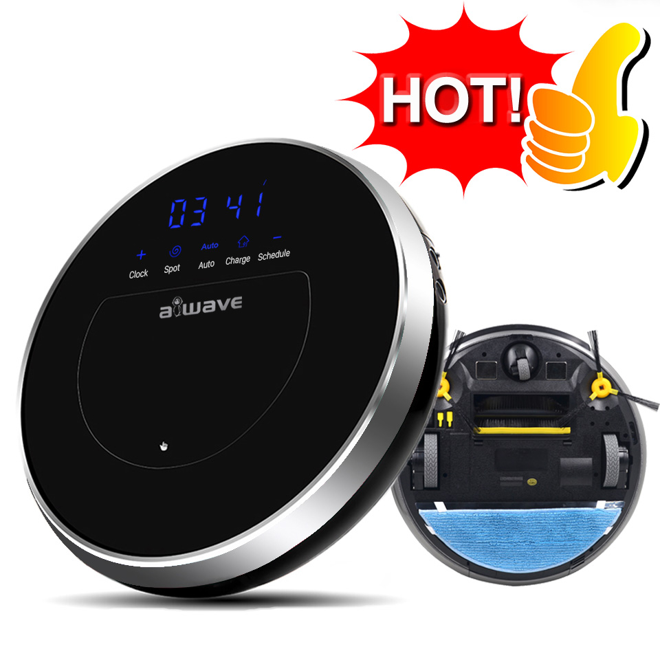 AWAVE Z8 Smart Vacuum Cleaners Automatic Sweeping Robots Wet and Dry Clean Remote control Self Charge 400ML Large Water Tank(China (Mainland))