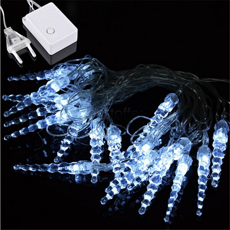 Led Icicle String Lights : 10M 50 LED Icicle String Lights New Year Christmas Xmas Wedding Party Led Fairy Lights-in LED ...
