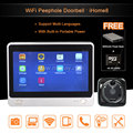 7 TFT 1024 600 2M Wifi Door Viewer Wireless Peephole Door Camera Video Intercom support Mobile