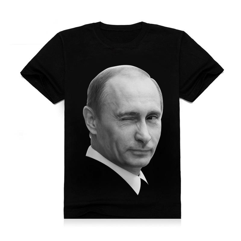 2016 New Fashion Brand Putin 3d Printed t shirt Vladimir Putin the Great hip hop Casual Tshirt men Organic Cotton(China (Mainland))